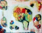 Višnja Peter, ''Volimo se zagrljeni'', akril na platnu, 60x80 cm