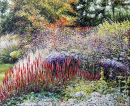 Danko Merin, ''Dream garden 1'', ulje na platnu, 50x60 cm