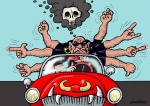 Dragutin Dado Kovačević, ''Bijes na cesti'', karikatura