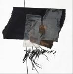 Ena Bajuk, ''Kolažna varijacija 1'', kolaž, 30x30 cm