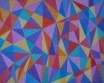 Josip Rubes, ''Geometric abstraction'', ulje na platnu, 80x100 cm