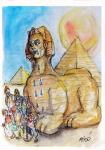 Miro Georgijevski (MK), ''Izbjeglice'', akvarel