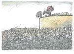Slobodan Butir, karikatura 2, akvarel