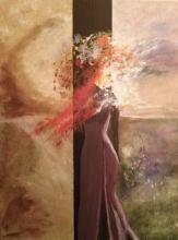 Ankica Tomac, ''Djevojka'', akril na platnu, 50x40 cm
