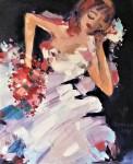 Rada Marković, iz ciklusa ''Žene isklesane kroz vjekove'', slika 1, ulje na platnu 60x50 cm