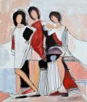 Rada Marković, iz ciklusa ''Žene isklesane kroz vjekove'', slika 2, ulje na platnu 60x50 cm