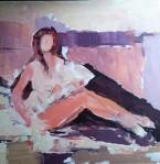 Rada Marković, iz ciklusa ''Žene isklesane kroz vjekove'', slika 3, ulje na platnu 60x50 cm