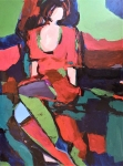 Rada Marković, iz ciklusa ''Žene isklesane kroz vjekove'', slika 5, ulje na platnu 60x50 cm