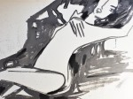 Rada Marković, iz ciklusa ''Žene isklesane kroz vjekove'', crtež 17, tuš, kombinirana tehnika, 21x29 cm
