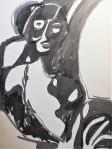 Rada Marković, iz ciklusa ''Žene isklesane kroz vjekove'', crtež 18, tuš, kombinirana tehnika, 29x21 cm