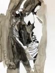 Rada Marković, iz ciklusa ''Žene isklesane kroz vjekove'', crtež 20, tuš, kombinirana tehnika, 29x21 cm