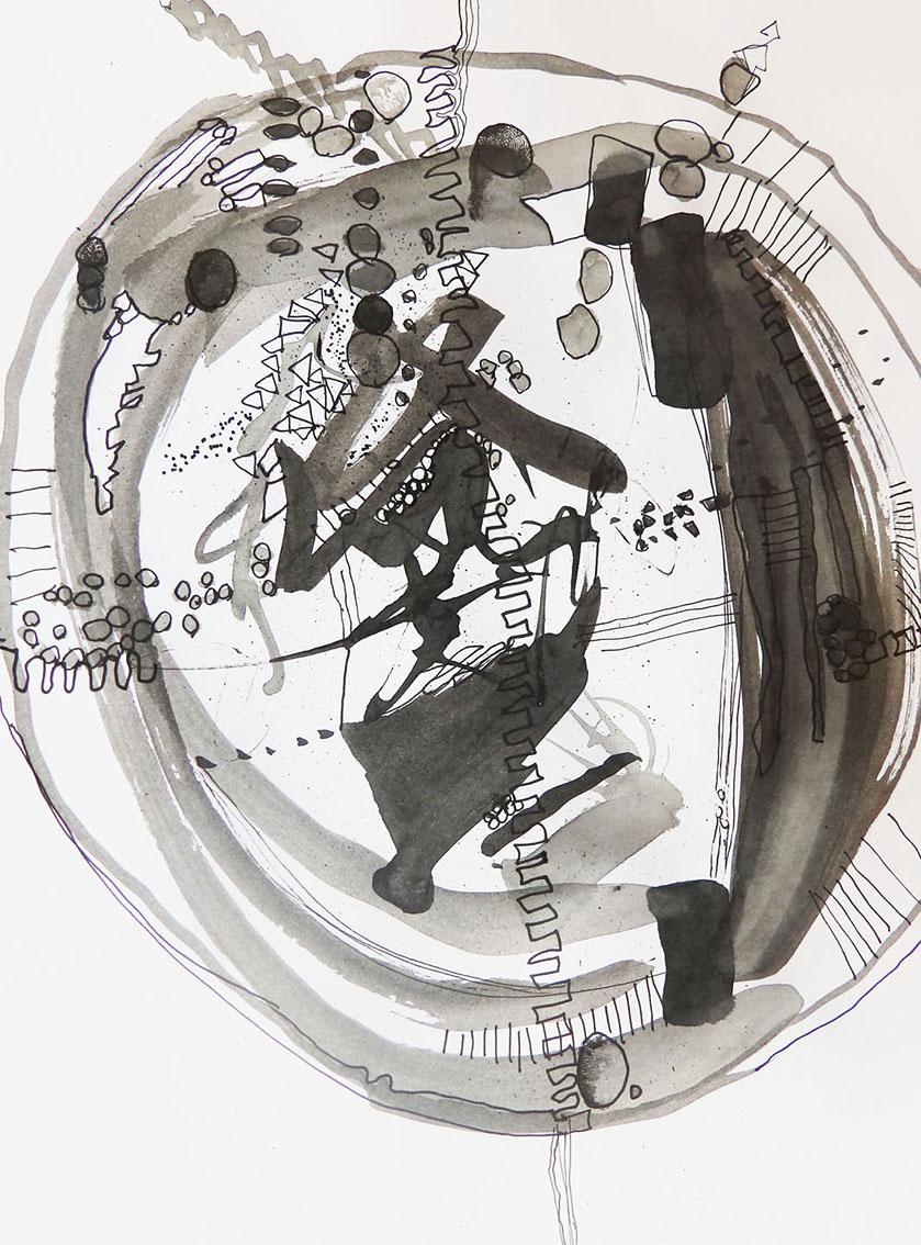 Rada Markovic, ''Energija'', kombinirana tehnika na papiru, 29x21 cm