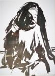 Rada Marković, iz ciklusa ''Žene isklesane kroz vjekove'', crtež 8, tuš, kombinirana tehnika, 29x21 cm