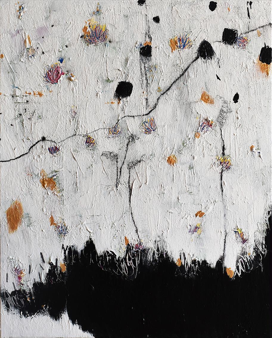 Silvia Golja, ''Beauty Beneath The Chaos II'', kombinirana tehnika akrila i ugljena na platnu, 60x50 cm