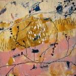 Silvia Golja, ''It's in the eyes'', akril na platnu, 20x20 cm