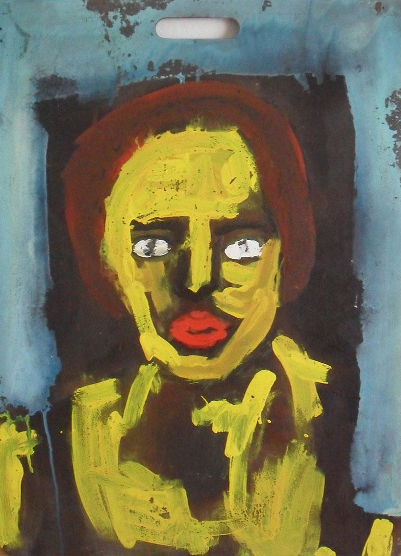Andrej Zbašnik, ''Portret'', kombinirana tehnika na šperploči, 70x50 cm