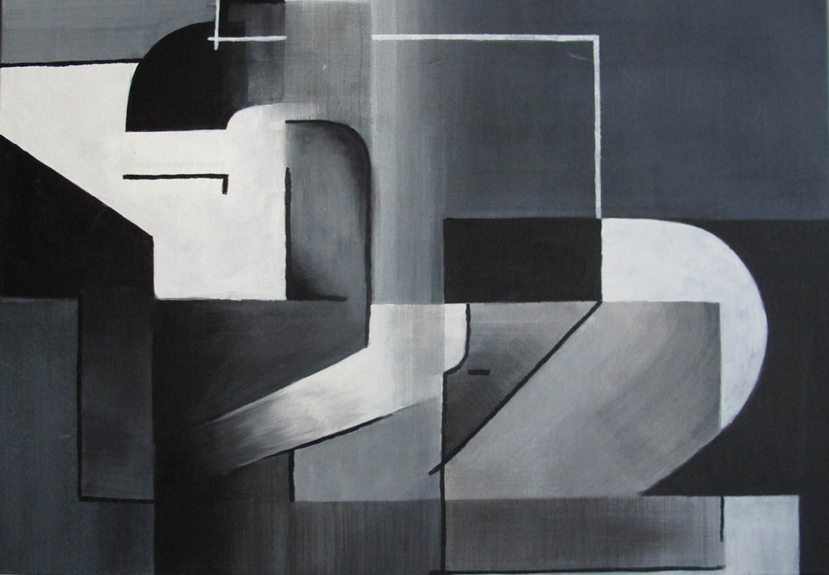 ''Akt'', akrilne boje na platnu, 50 x 70 cm, 2015.