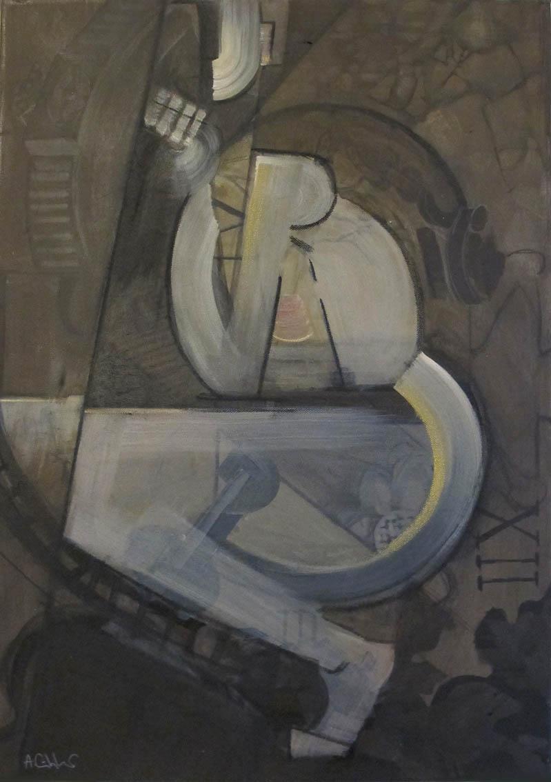 ''Akt'', akrilne boje i suhi pastel na platnu, 70 x 50 cm, 2020.