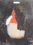 Andrej Zbašnik, ''Crkva'', ulje na šperploči, 70x50 cm