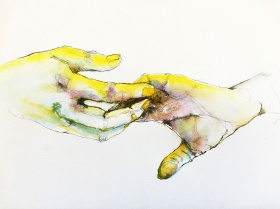 Silvia Golja, ''Out of touch'', akvarel na papiru, 35x25 cm