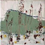 Silvia Golja, ''Through'', akril na platnu, 20x20 cm