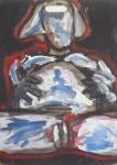 Andrej Zbašnik, ''Akt 3'', kombinirana tehnika na šperploči, 70x50 cm
