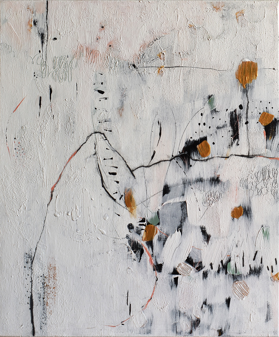 Silvia Golja, ''Beauty Beneath The Chaos'', kombinirana tehnika akrila i ugljena na platnu, 60x50 cm