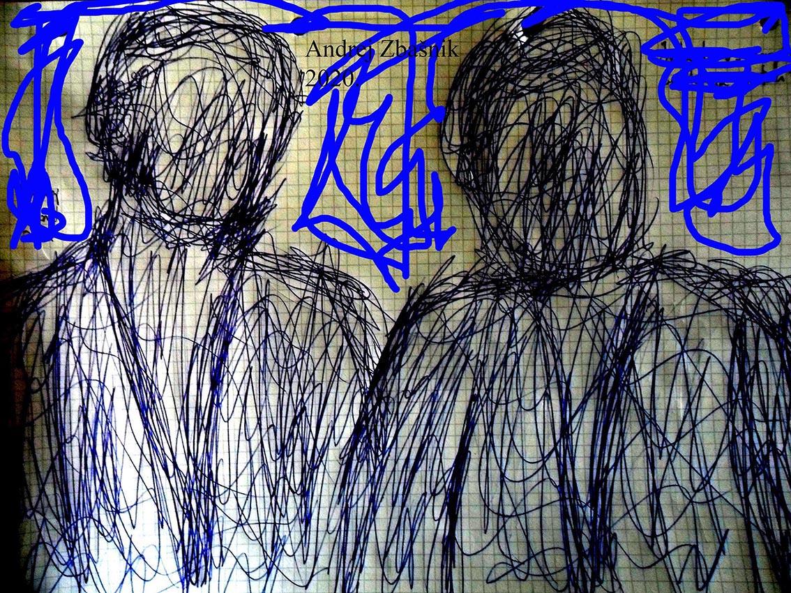 Andrej Zbašnik, ''Intuitivno – energetska anatomija prostora 3'', digitalni crtež, 21x29 cm