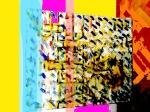 Andrej Zbašnik, ''Ritmičko polje 2'', digitalna grafika, A4