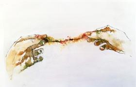 Silvia Golja, ''Fine line'', akvarel na papiru, 21x29.5 cm