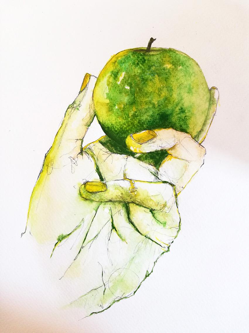 Silvia Golja, ''Health'', akvarel na papiru, 35x25 cm