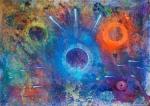 Luka Koščak, ''Svemir'', akril na platnu, 145x200 cm