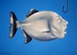 Marina Lapadatović, ''Riba – autoportret'', ulje na platnu, 50x70 cm