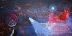 Luka Koščak, ''Svemir (4)'', akril na platnu, 100x200 cm