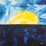 Luka Koščak, ''Horizonti (1)'', ulje na platnu, 80x80 cm