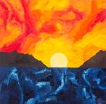 Luka Koščak, ''Horizonti (2)'', ulje na platnu, 80x80 cm