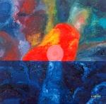 Luka Koščak, ''Horizonti (3)'', ulje na platnu, 80x80 cm
