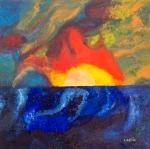 Luka Koščak, ''Horizonti (5)'', ulje na platnu, 80x80 cm
