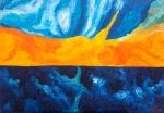 Luka Koščak, ''Horizonti (8)'', ulje na platnu, 70x100 cm