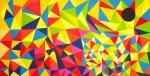 Luka Koščak, ''4 u jednoj (1)'', akril na platnu, 100x200 cm