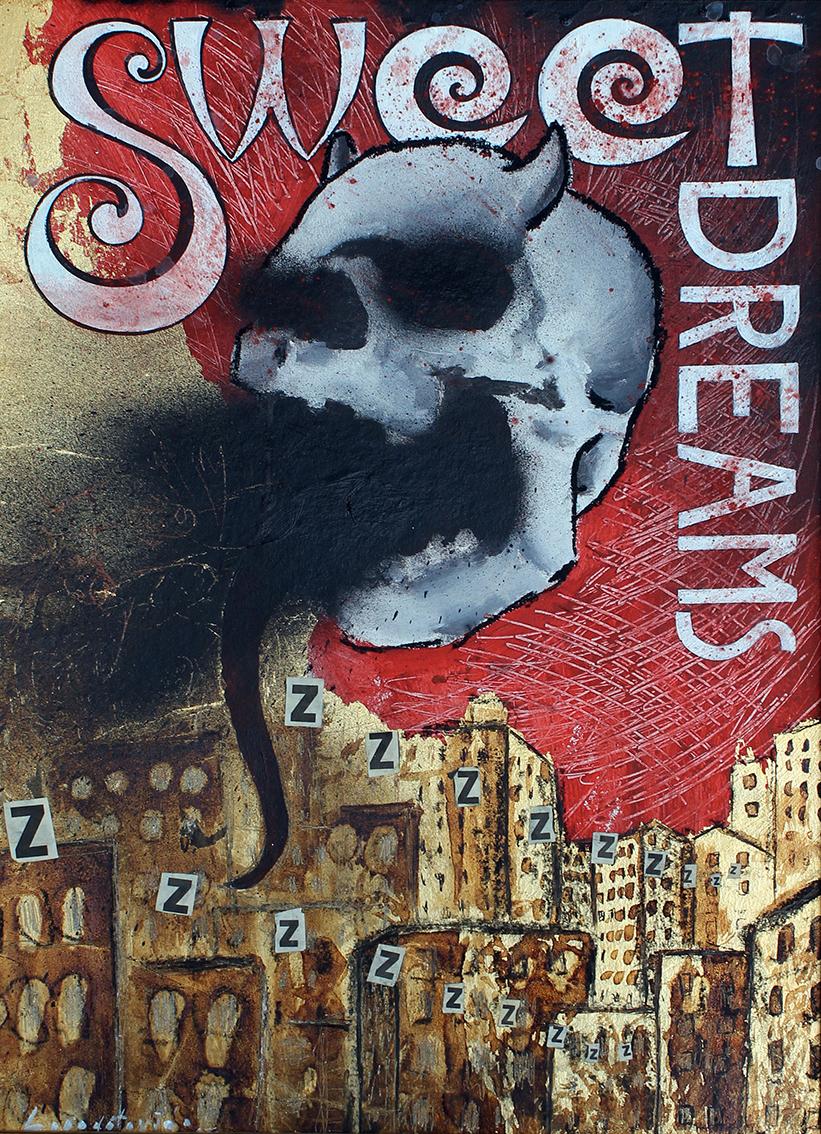 Marina Lapadatović, ''Sweet dreams'', kombinirana tehnika, 50x40 cm