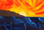 Luka Koščak, ''Horizonti (12)'', ulje na platnu, 50x70 cm