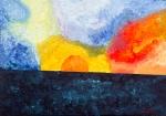 Luka Koščak, ''Horizonti (16)'', ulje na platnu, 50x70 cm