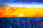 Luka Koščak, ''Horizonti (17)'', ulje na platnu, 80x120 cm