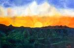 Luka Koščak, ''Horizonti (18)'', ulje na platnu, 80x120 cm