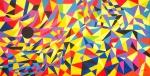 Luka Koščak, ''4 u jednoj (2)'', akril na platnu, 100x200 cm