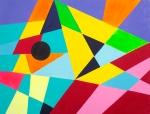 Luka Koščak, ''Geometrija (1)'', akril na platnu, 50x70 cm