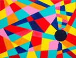 Luka Koščak, ''Geometrija (2)'', akril na platnu, 50x70 cm