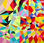 Luka Koščak, ''Geometrija (8)'', akril na platnu, 80x80 cm
