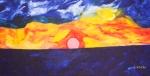 Luka Koščak, ''Horizonti (13)'', ulje na platnu, 80x120 cm